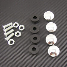 Car License Plate Frame M6 Screws Bolts Fastener Fixing & Caps Covers For Honda