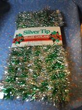 Nos Deluxe Garland Silver Tip 12 Feet x 3 Inches Mystic Industries Made Usa
