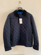 Barbour Men's Trough Quilted Jacket, Navy XL, New With Tags RRP £139