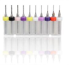 10x 0.3mm - 1.2mm Carbide PCB Dremel Jewelry CNC Engraving Drill Bits Set H uk