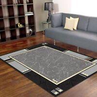 New Augusta Modern BCF Soft Floor Rug Carpet Non Shedding Pile All Sizes