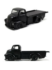 Jada 1/24 1952 Chevy COE PickUp Truck Flat Bed Matte Black Diecast Model 97464
