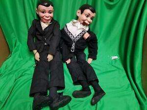 2 Charlie McCarthy Dummy Ventriloquist Doll   Read description  14B3