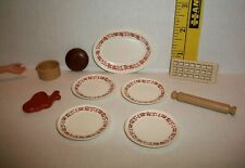 Vintage Fashion Sindy Doll Rolling Pin Food Plates Accessory Lot 1/6 Scale Htf