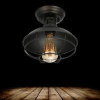 60W Rustic Cage Pendant Light Chandelier Ceiling Lamp Fixture WIFI Smart Dimmer