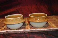 """Two Asian Brown Pottery Vase Planter Bowl Marked & Numbered 5 1/2""""x3 1/8"""""""