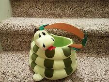 HOUSTON HARVEST Snake Treat Basket PLUSH COILED Adorable j78