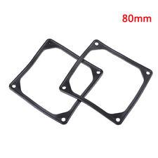 2Pcs 80mm 8cm anti vibration flexible rubber silicone frame for pc case fan RG