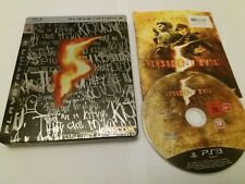 Resident Evil 5 UK Sony PS3 Steelbook & Gold Edition Disc + Instructions VGC V