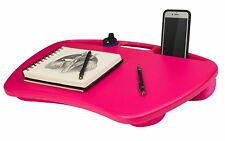 "Portable Laptop Lap Desk Table Notebook Cooling Pad 15"" Computer Stand Fan, Pink"