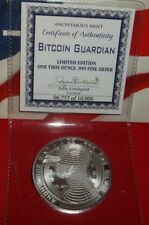 1 oz Solid Silver Bitcoin Guardian Commemorative .999 Pure/Solid Silver Coin COA