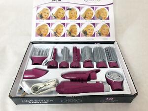 10-in-1 Hair Multi Styler DRYER CURLING TONGS STRAIGHTENER ROLL BRUSH SET