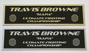 Travis Browne UFC nameplate for signed mma gloves photo or case