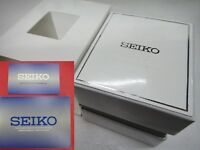 SEIKO Empty White Presentation Watch Gift Box With warranty card booklet Pillow
