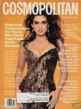 ***Cosmopolitan MAGAZINE  OCTOBER 1988 CINDY CRAWFORD  COVER BY SCAVULLO