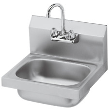"""Krowne HS-2L - 16"""" Wide Hand Sink w/Faucet & Drain"""