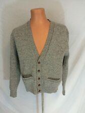 Vintage Robert Bruce Cardigan Sweater Grey Wool Blend Union Label Size Medium