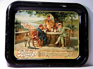 Vintage BLATZ OLD HEIDELBERG Lithographed Beer Tray, Milwaukee, Wisconsin