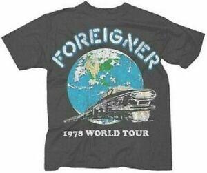 T-Shirt FOREIGNER 1978 World Tour Tee New