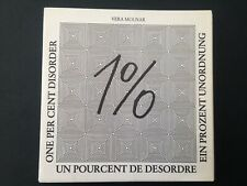 Livre d'artiste artis't book Vera Molnar 1% de désordre First ed 500ex 1980 Rare
