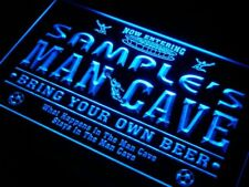 qd-tm Name Personalized Custom Man Cave Soccer Bar Beer Neon Sign