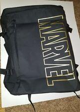 NWT Imported Marvel Comics Large Logo Backpack Black & Gold