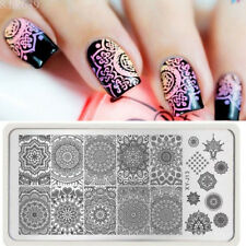 Born Pretty Mandala Nail Art Stamping Plate Stamp Template Stamper Scraper Set