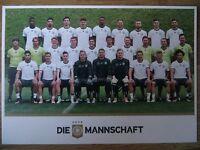 Autogrammkarte AK *MANNSCHAFTSBILD* DEUTSCHLAND Nationalmannschaft EM 2016 RAR