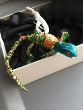 Dillards Bearded Dragon Chameleon Cloisonne Christmas Ornament Lizard Nib