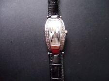 Original Swarovski Reloj De Dallas Con Correa De Repuesto Rojo y Negro Nunca Usado En Caja