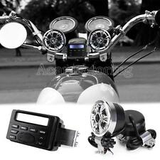 US ATV Bike Motorcycle Speakers Audio Sound System Bluetooth MP3 FM Radio Stereo