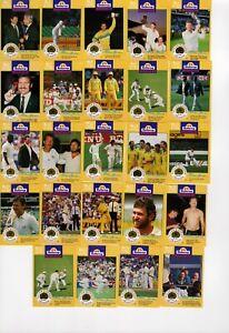 Cricket Australia Buttercup Bread Cards 1993 . Full set of 24