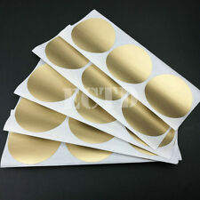 High Quality Scratch Off Stickers 50x50mm Circle Gold Color Round Shape 50pcs