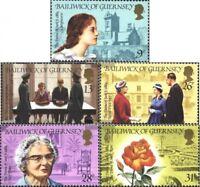 GB-Guernsey 279-283 (kompl.Ausg.) postfrisch 1984 100. Geburtstag Sibyl Hathaway