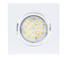 Einbauleuchte Einbaustrahler LED Set Einbauspot Deckeneinbauspot eckig GU10 230V