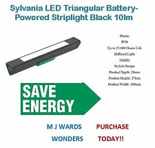 Sylvania LED Triangular Battery-Powered Striplight Black 10lm