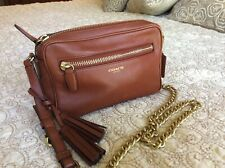 Coach Legacy Leather Tassel Flight Bag 25362 Cognac