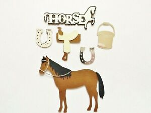 Horse Riding Equestrian Pony Papercraft Embellishments Scrapbooking Card Crafts