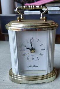 Seth Thomas Model 306 white Desk Top Alarm Clock