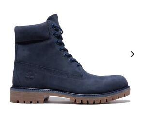 $169 Timberland Premium 6'' Waterproof Boots (TB06718B) Navy Waterbuck size 13