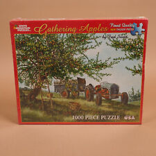 Gathering Apples Fred Swan 1000 Piece Jigsaw Puzzle Antique Ford Tractor Farm