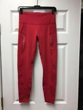 ATHLETA Rainier Tight in Plush SuperSonic NEW - XS Hibiscus Red $98
