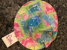 Lilly Pulitzer Girls Reversible Lil Sunhat Size 6 NEW