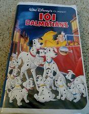 101 Dalmatians (VHS, 1992) black diamond classic  1263