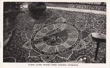 Edinburgh; Floral Clock, Princes St Gardens Edinburgh RP PPC, Unposted