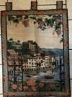 """Vintage Sea Gull Wall Hanging Tapestry Italian Waterway, Canal  38"""" X 28.5"""""""