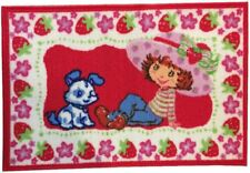 strawberry shortcake dog Pupcake puppy playing Floor Mat/Rug Kids Room Nursery