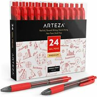 ARTEZA Retractable Gel Ink Pens, Red - 24 Pack