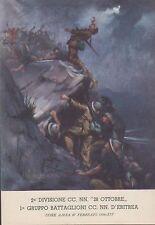"""2a Divisione CC.  NN.  """"28 Ottobre"""" UORK AMBA 27 Febbraio 1936, non viaggiata."""
