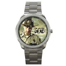 New Rick Grimes Police With Gun The Walking Dead sport metal watch free shipping